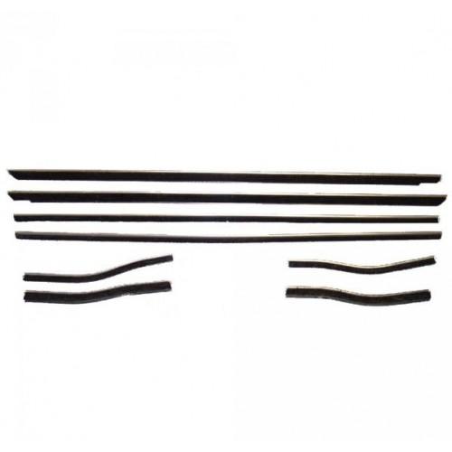 Kit lèvres vitre complet avant, arrière, droit, gauche, intérieur et extérieur pour coupé et cabriolet