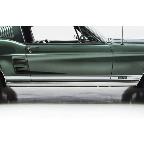 Kit autocollant / sticker de bas de caisse Mustang GT 1967 coupé/Fastback/Cabriolet