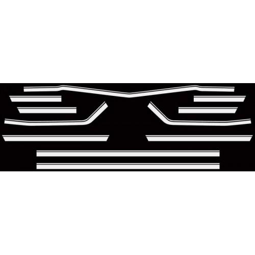 Kit autocollant / sticker pour Chevelle SS noir