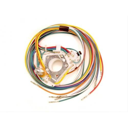 Contacteur de clignotants pour colonne de direction non réglable avec faisceau